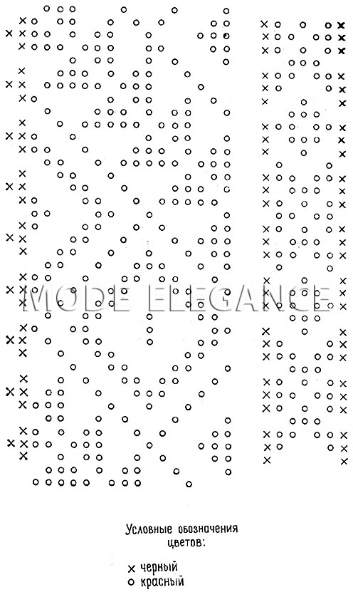 Схема орнамента для вышивки крестом.