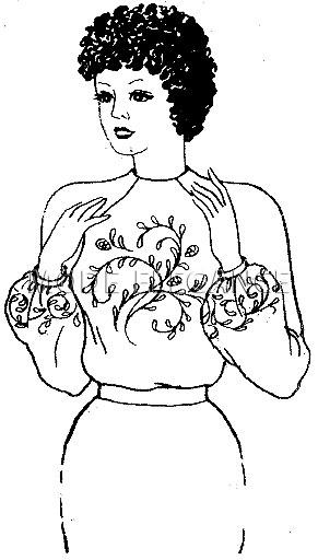 Блузка, вышитая подстильной